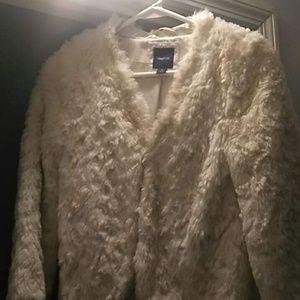 Girl's Gap Faux Fur Jacket Size L